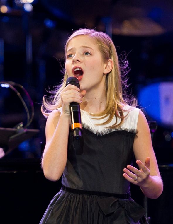 Jackie Evancho performs with David Foster and Friends at Mandalay Bay Events Center in Las Vegas, NV on December 29, 2011