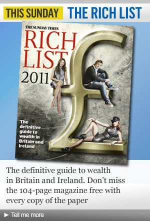 UK's Young Millionaires 2011 – Sunday Times Rich List