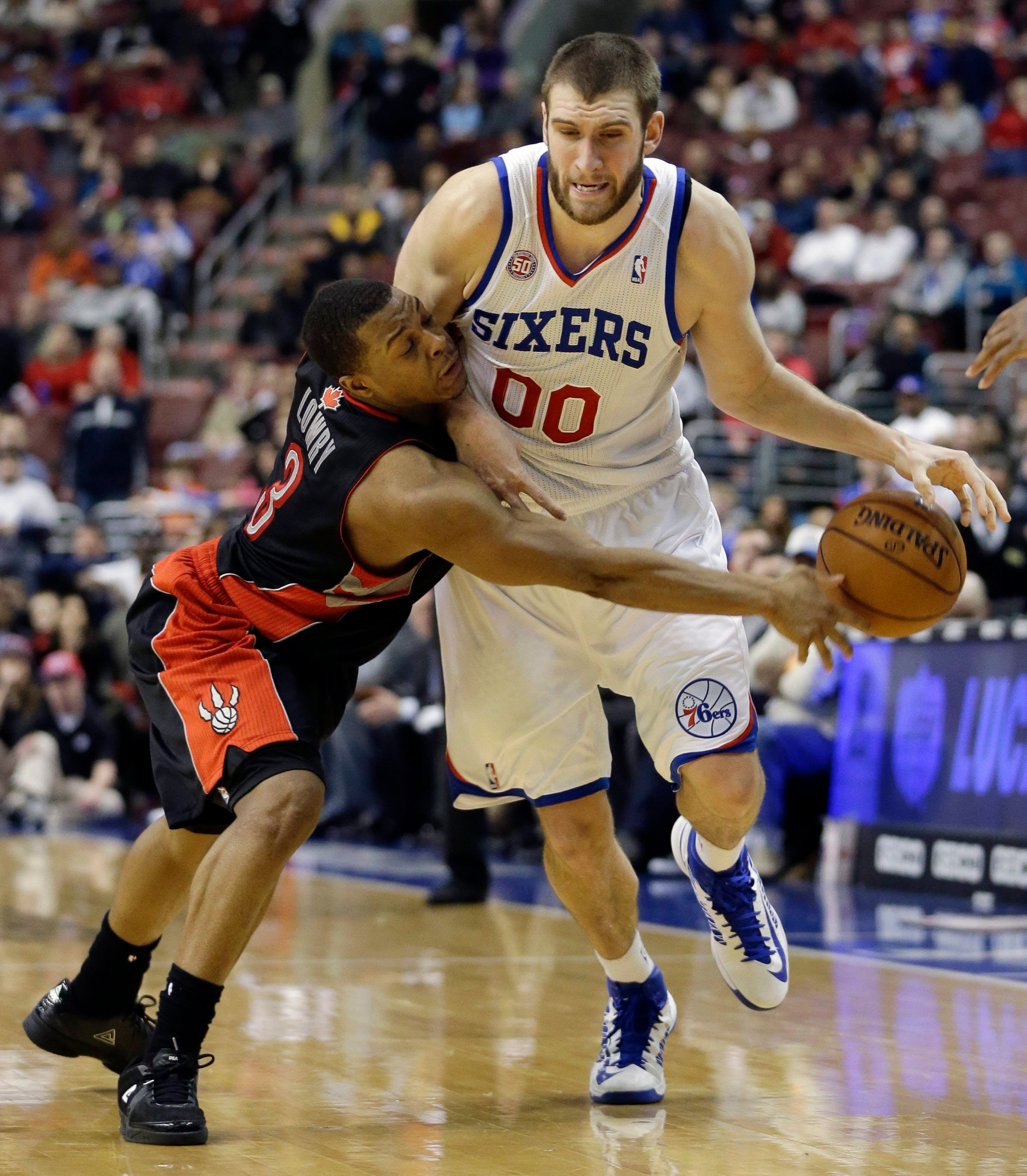 Spencer Hawes, Kyle Lowry