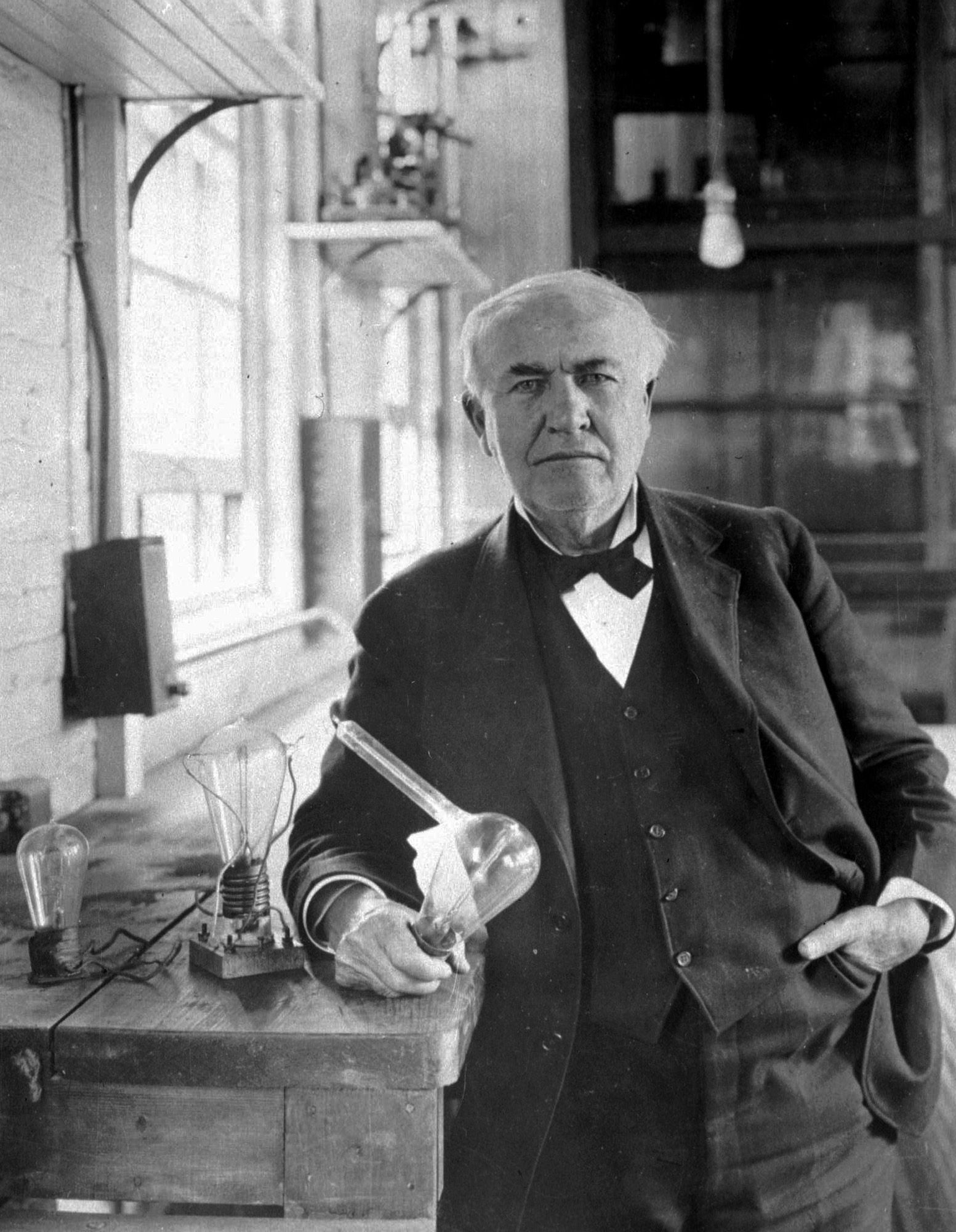 THOMAS EDISON AND ELECTRIC LIGHT