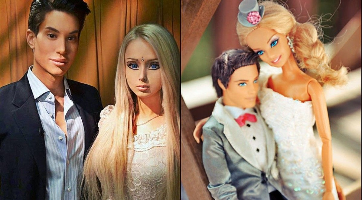 Real life barbie and ken photoshoot