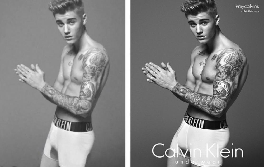 10. Justin Bieber's Calvin Klein ad