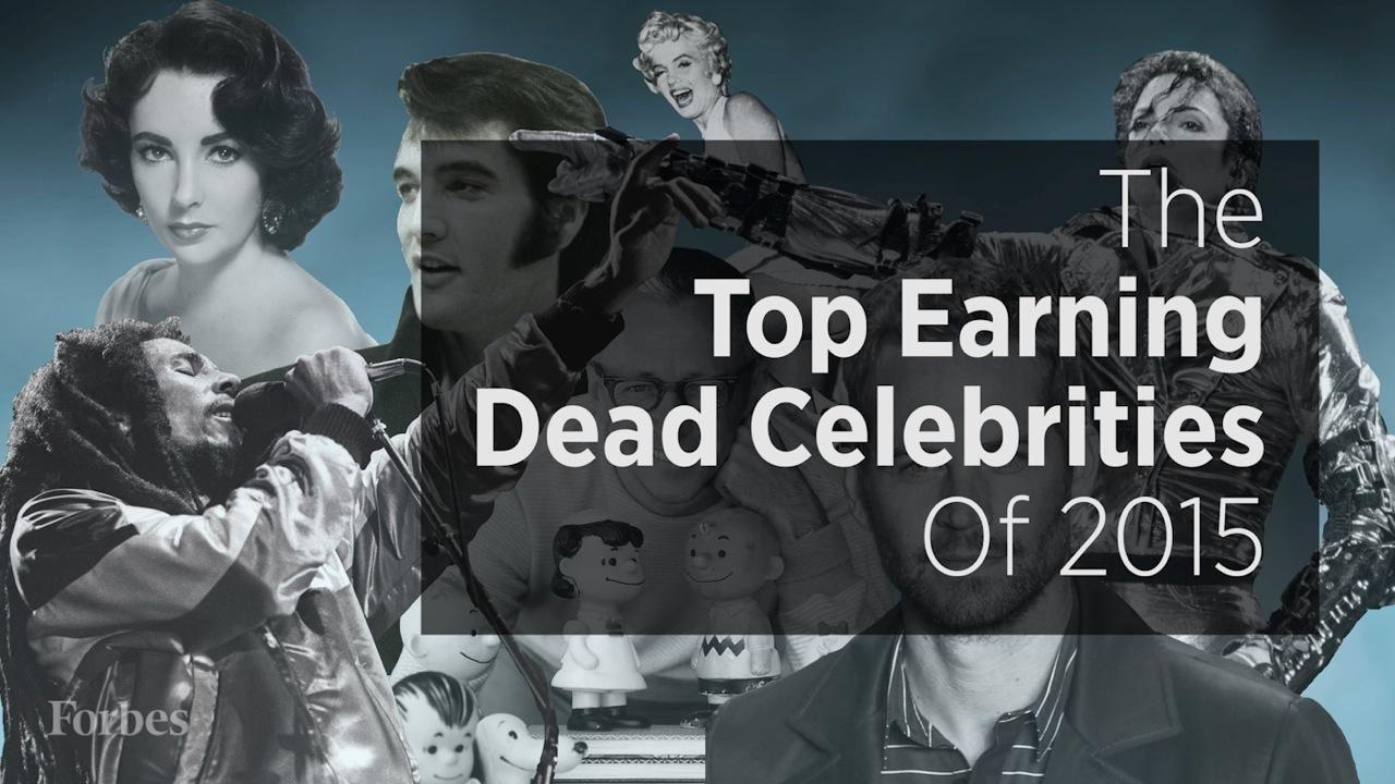Forbes top dead celebrity earners 2019