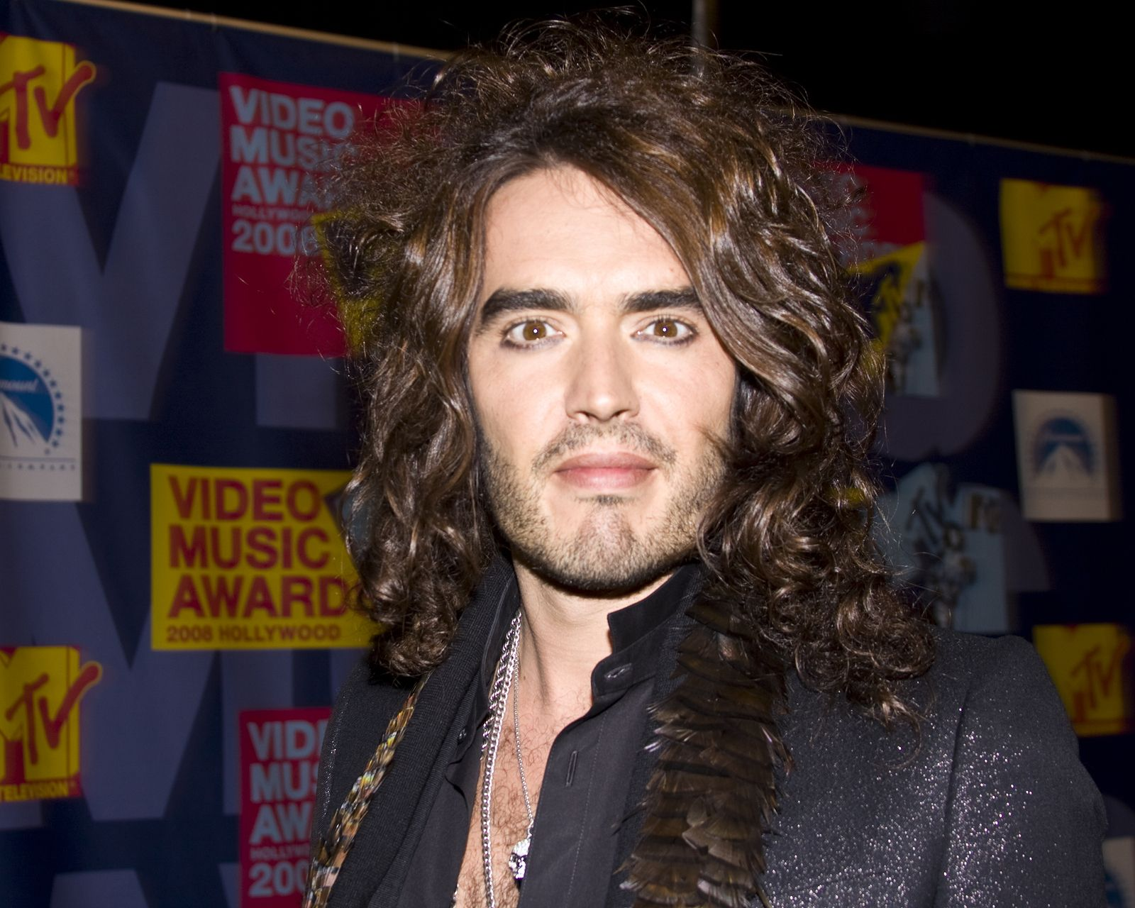 Russell Brand (Host) at the VMA's Taken September 7 2008 at the MTV Video Music Awards at Paramount Studios Hollywood CA slight blurriness