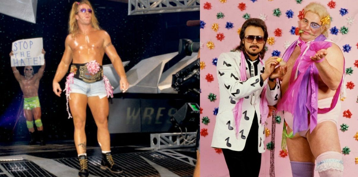 "15 Tasteless Wrestlers Who Pretended To ""Play For Both Teams"""