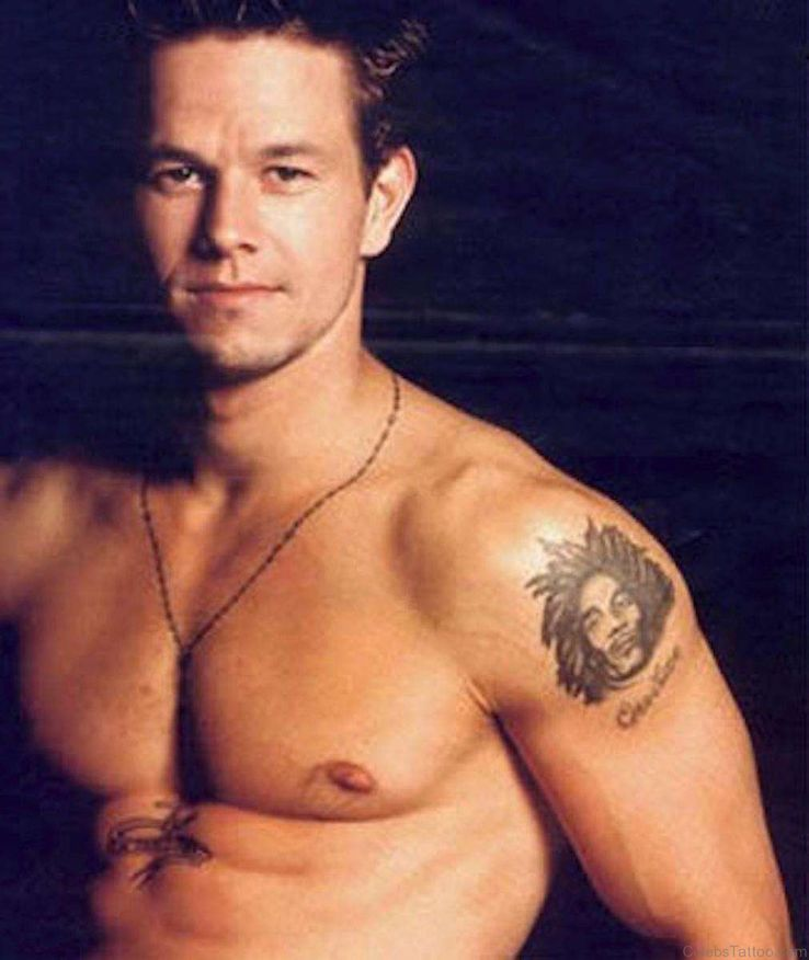 5935562b Wahlberg had four tattoos and then had them removed. On his ankle, he had  the cartoon character Sylvester the cat with Tweety Bird in his mouth.
