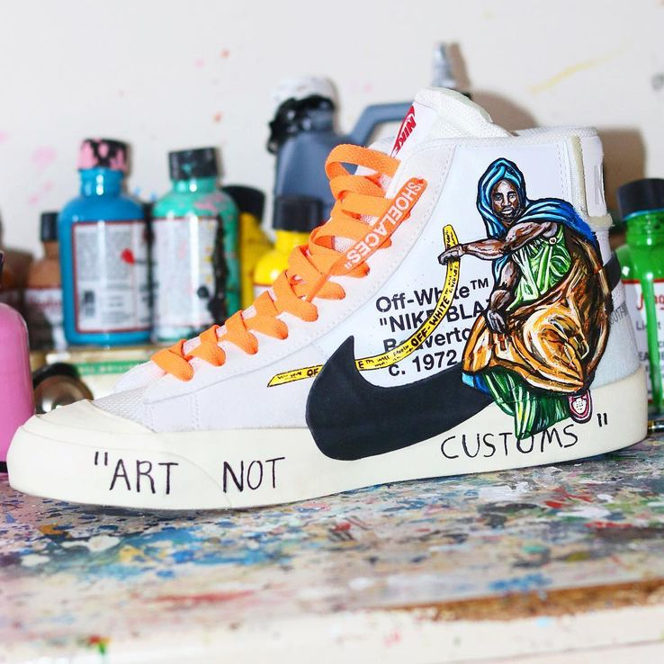new style 4d0e6 c73d3 This might as well be the Holy Grail of all Nike shoes for sneakerheads. The  Virgil Abloh OFF-WHITE has been hand-painted here with a Renaissance twist,  ...