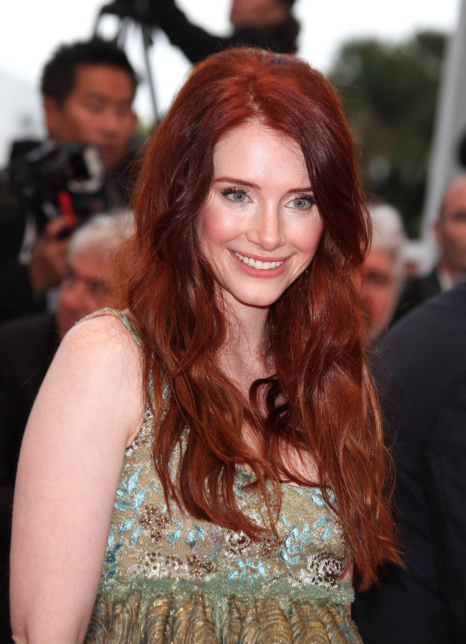 "Bryce Dallas Howard on the red carpet for the screening of ""Sleeping Beauty"" during the Cannes Film Festival"