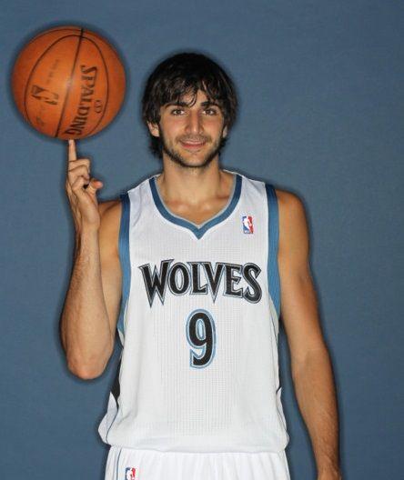 Ricky Rubio of the Minnesota Timberwolves Portraits